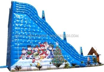 Inflatable christmas slide C1011