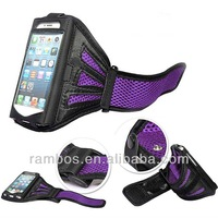 New Gym Jogging Cycling Traveling Running Sports Mesh Armband Workout Holder Case Cell Phone Cover for iPhone 4 4S