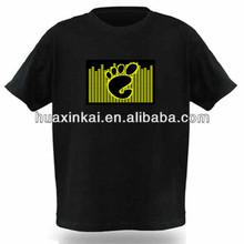 2013 latest innovative led t shirt equalizer