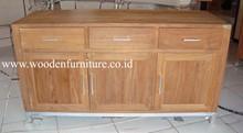 Teak Indoor Furniture Teak Minimalist Cabinet Teak Minimalist Side Board Teak Wood Home Furniture Solid Teak Wood Modern Buffet