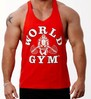 Golds Gym Mens Workout Tank Top -Gold's Gym Racerback Tee Shirt-Stringer Vest