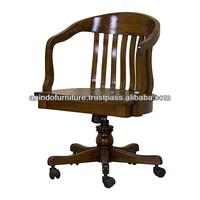 Mahogany Beidermier Swivel Desk Office Chair