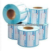 2013 Custom self adhesive printing sticker roll sticker