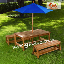 Outdoor Tables And Bench Sets With Umbrella