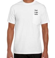 100% cotton unique and fashion trendy Printing Pocket T-Shirt/printing Pocket tee