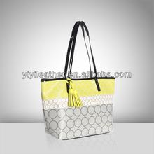 V568- Bolsos de cuero, yellow tote bag, bulk wholesale handbags