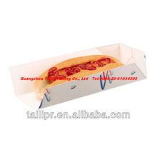 Disposable hot dot sleeve hot dog tray