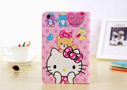 Hello kitty NEW wallet leather flip case for ipad mini 2,for ipad mini 2 case