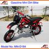 """Kids Mini Cross Gasoline MN-D184 2 stroke 49cc Pull Start Max Speed 60km/h with 10"""" rubber wheel Mini Dirt Bike"""