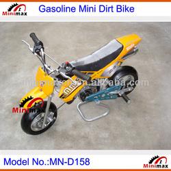 "Kids Cross Kids Mini Dirt Bike MN-D158 2 stroke 49cc Pull Start Max Speed 60km/h with 10"" rubber wheel"