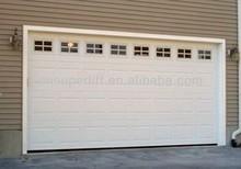 Wood Grain Sectional Garage Door With Windows/Automatic Sliding Garage Door