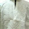 PURE WHITE KURTA FOR MEN IN CHIKANKARI