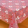 vermelho de vinil branco rendado retangular tradicional casamento toalhas de mesa