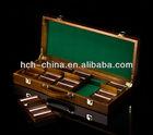 500 Pc Deluxe Wooden Custom Poker Chip Case