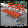 Garden metal wooden bench with back