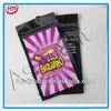Three-side heat sealed bulk zipper bags for herbal incense