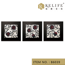 abstract decorative rose oil painting