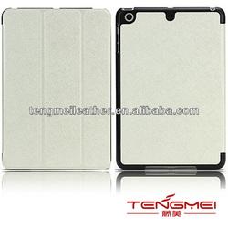 For IPad mini ultra thin leather Case White,Smart leather case for ipad mini,Kickstand case for ipad