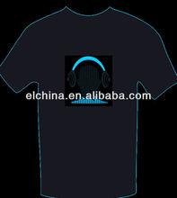 flashing el equalizer t-shirt