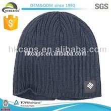 High Quality Custom navy winter beanie knit cap/men winter cap
