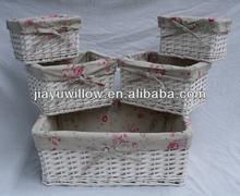 Stunning White wicker basket handicrafts