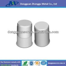 Popular M4 metal zinc plate thin head closed end rivet nut