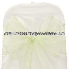 Sage Green Organza Sashes 23cm x 280cm / Chair cover Organza sashes / Wedding Organza Bow Sashes