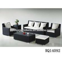 Popular Hotel Furniture Alum Frame PE Rattan Sofa