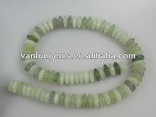 loose gemstone New Jade centre drill rondelles semi precious stone string