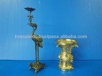 OEM Brass Die Casting Buddhist altar fittings / Candlesticks / Candelabra made in japan