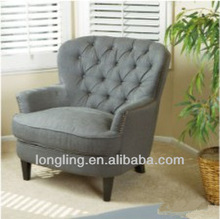 LK-B02 african living room wing back chair furniture