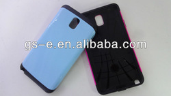 Alibaba china Top Quality Cell Phone Cover for Samsung Galaxy Note3, Metal +Silicone Hybrid Case for Samsung Note 3