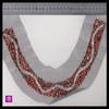 metal beads colour contrast embroidered punjabi neck design suits