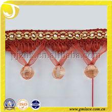 Cortinas de plástico para cubierta recorte para la decoración de la cortina