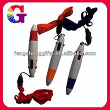 Lanyard pen/Cheap plastic pen with lanyard