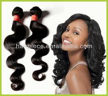 fashion 100% body wave double weft virgin brazilian hair,intact unprocessed virgin human hair weft