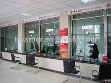 Bulletproof Glass window used for bank