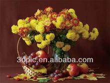 PET lenticular oil painting 3d pictures flower
