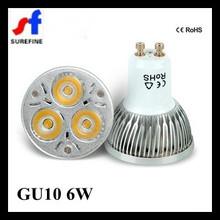 High Power GU10 6W Led Light Mini Spot Ce RoHS