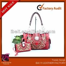 New Embroidered & Crystal Designed Western Bag & Wristlet Wallet