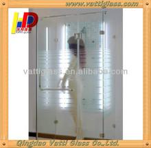 Tempered Glass Shower Door & Shower Bathroom Screen, Luxury Decorative Glass Bathroom Shower, Decorative Glass Shower Door