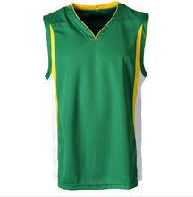 Custom made green university school basketball shirt shooting jersey