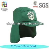 Wholesale Promotional Sun Protection Cap Flap Back Hat