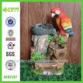 jardín fuente de agua decorativa de resina fuente bebedero para pájaros