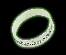 Nite glow bracelet. Glows in the dark and is made in the USA.