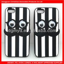 move eye balls cute mustache design blu cell phone cases