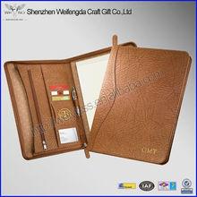 Fashion Brown A4 High Quality Leather Portfolio Folder