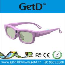 Rechargeable shutter IR lunettes 3d actives for Women