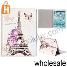 Cystal Diamond Studded Tri Stand Magnetic Flip Leather Case For iPad Air