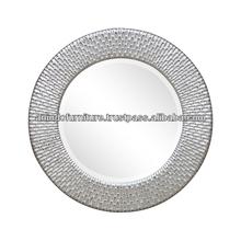 Aqua Series Round Carved Mirror